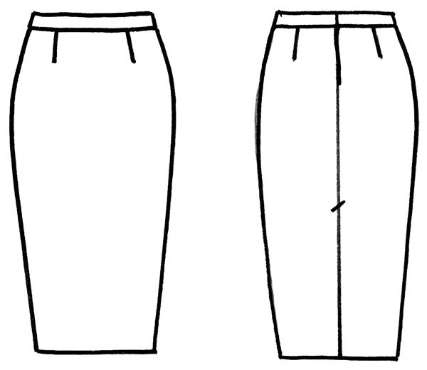 Юбки модели рисунки
